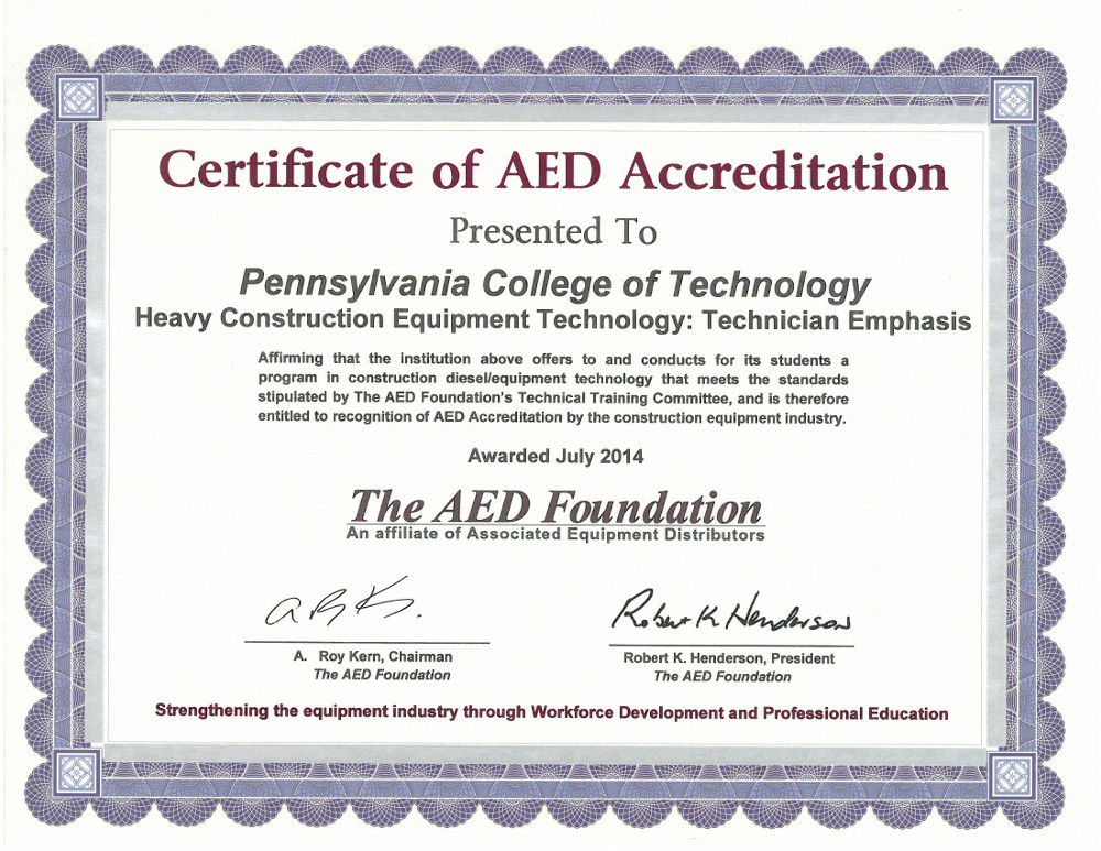 Accreditation Process - The AED Foundation